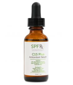 SPF Rx C15 PLUS Anti-Oxidant Super Serum - 15% Vitamin C Plus Serum for Face, Hyaluronic Acid & Vitamin E, Anti Wrinkle Serum for All Skin- Anti Ageing and Protect Skin from Environmental Toxins 30ml