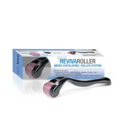RevivaRoller Micro-Exfoliating Roller Facial Renewal System: 540 Stainless Steel 0.25mm needles for treating various areas of the face & body.