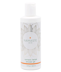 Namaste Skin Turmeric Herbal Shower Gel with Antioxidant Lavender Essential Oils (120ml Bottle)