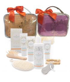 Namaste Skin Deluxe Bath and Body Natural Spa Gift-Set; 11-Piece (Grapefruit or Lavender Theme)