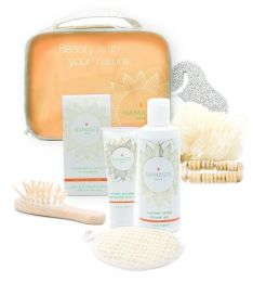 Holiday Special! Bath and Body Natural Spa Gift-Set (9-Piece, Grapefruit)