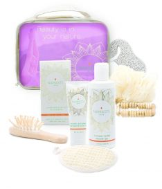 Holiday Special! Bath and Body Natural Spa Gift-Set (9-Piece, Lavender)