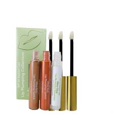Radiant Lip Hyaluronic Lip Plumping Set of Volumizing Lipstick in Simply There (Matte Nude) and  Clear Serum  with Plumping Peptides